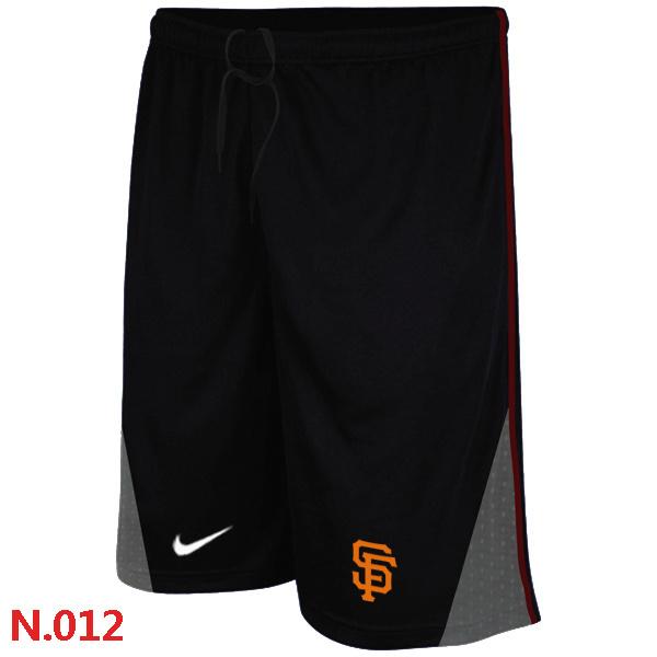 San Francisco Giants Performance Training Shorts Black