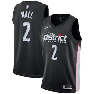 Washington Wizards #2 John Wall 2018-19 Swingman Basketball New City Edition Jersey Black