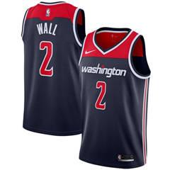 Washington Wizards #2 John Wall Navy Blue Basketball Swingman Statement Edition Jersey
