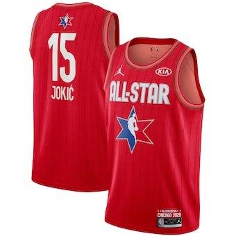 Nikola Jokic 2020 All-Star Game Swingman Basketball Jersey - Red
