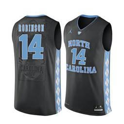 North Carolina Tar Heels #14 Brandon Robinson Black College Basketball Jersey