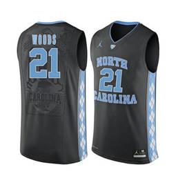 North Carolina Tar Heels #21 Seventh Woods Black College Basketball Jersey