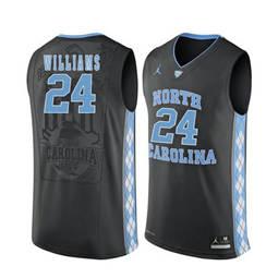 North Carolina Tar Heels #24 Kenny Williams Black College Basketball Jersey