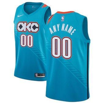 Oklahoma City Thunder  2018-19 Swingman Custom Jersey Turquoise - City Edition