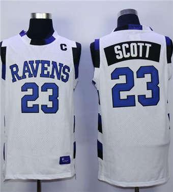 One Tree Hill Ravens #23 Nathan Scott White Stitched Basketball Jersey