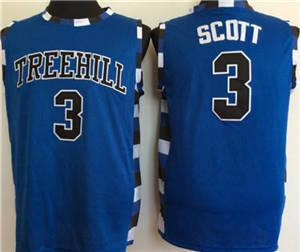 One Tree Hill Ravens #3 Lucas Scott Blue College Basketball Jersey