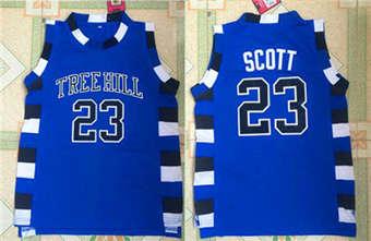 One Tree Hill movie edition jerseys #23 SCOTT blue jerseys