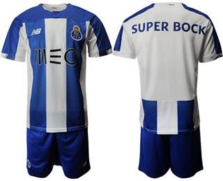 Oporto Blank Home Soccer Club Jersey