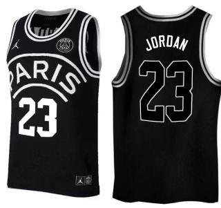 Paris Saint-Germain X Jordan #23 Michael Jordan Black Basketball Jersey