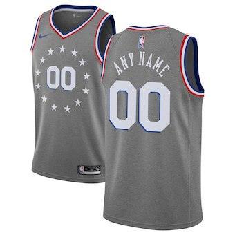 Philadelphia 76ers  2018-19 Swingman Custom Jersey - City Edition - Charcoal