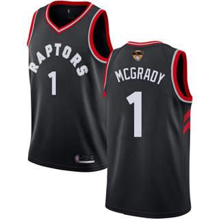 Raptors #1 Tracy Mcgrady Black 2019 Finals Bound Basketball Swingman Statement Edition Jersey