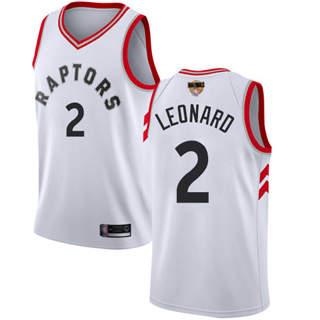 Raptors #2 Kawhi Leonard White 2019 Finals Bound Basketball Swingman Association Edition Jersey