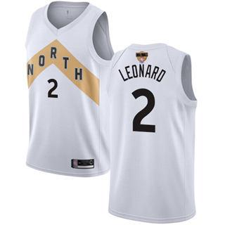 Raptors #2 Kawhi Leonard White 2019 Finals Bound Basketball Swingman City Edition 2018-19 Jersey