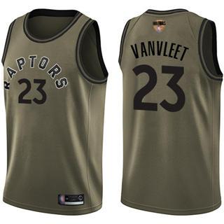 Raptors #23 Fred VanVleet Green Salute to Service 2019 Finals Bound Basketball Swingman Jersey