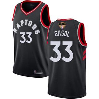 Raptors #33 Marc Gasol Black 2019 Finals Bound Basketball Swingman Statement Edition Jersey