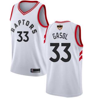 Raptors #33 Marc Gasol White 2019 Finals Bound Basketball Swingman Association Edition Jersey