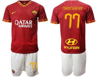 Roma #77 Mkhitaryan Red Home Soccer Club Jersey