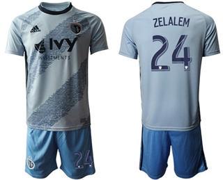 Sporting Kansas City #24 Zelalem Home Soccer Club Jersey