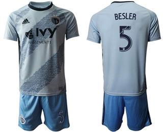Sporting Kansas City #5 Besler Home Soccer Club Jersey