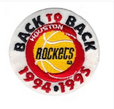 Stitched 1994 & 1995 Basketball Finals Championship Houston Rockets Jersey Patch (Back to Back)