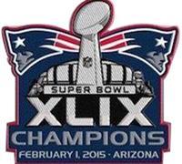 Stitched 2015 Football Super Bowl XLIX 49 Champions New England Patriots Jersey Patch In Arizona