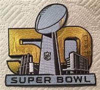 Stitched 2016 Super Bowl L 50 Jersey Patch