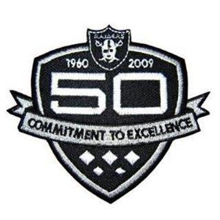 Stitched Las Vegas Raiders 50th Anniversary Football Jerseys Patch