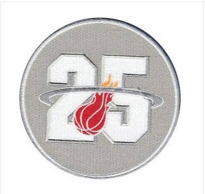 Stitched Basketball Miami Heats 25TH Jersey Patch