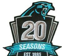 Stitched Football Carolina Panthers 1995-2014 20TH Season Jersey Patch