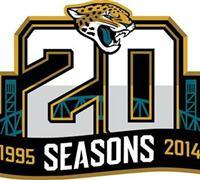 Stitched Football Jacksonville Jaguars 1995-2014 20TH Season Jersey Patch