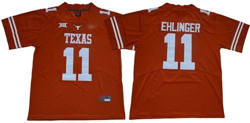 Texas Longhorns #11 Sam Ehlinger Orange Limited Stitched College Football Jersey