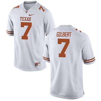 Texas Longhorns #7 Garrett Gilbert White  College Football Jersey