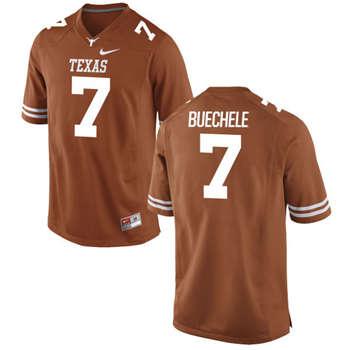 Texas Longhorns #7 Shane Buechele Orange  College Football Jersey