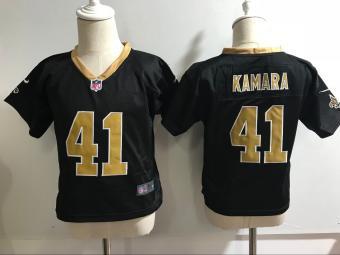 Toddler  Saints #41 Alvin Kamara Black Stitched Football Infant Jersey