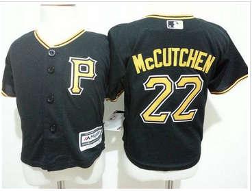 Toddler Pittsburgh Pirates #22 Andrew McCutchen Black Cool Base Stitched Baseball Jersey