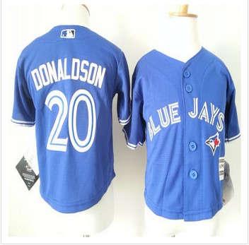 Toddler Toronto Blue Jays #20 Josh Donaldson Blue Cool Base Stitched Baseball Jersey