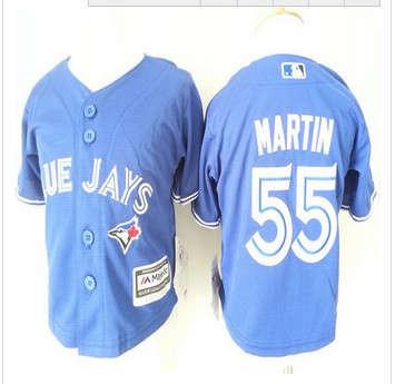 Toddler Toronto Blue Jays #55 Russell Martin Blue Cool Base Stitched Baseball Jersey