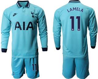Tottenham Hotspur #11 Lamela Home Long Sleeves Soccer Club Jersey