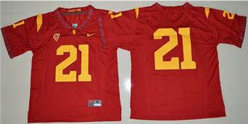 Trojans #21 Adoree' Jackson Red Limited Stitched NCAA Jersey