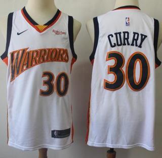 Warriors #30 Stephen Curry White Throwback Basketball Swingman Hardwood Classics 2009-10 Jersey