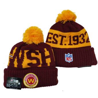 Washington Football Team 2021 Football Team Logo Stitched Knit Hat Sports Beanie (9)