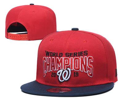 Washington Nationals 2019 World Series Champions Hat Stitched Adjustable Snapback GS