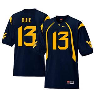 West Virginia Mountaineers 13 Andrew Buie Navy College Football Jersey