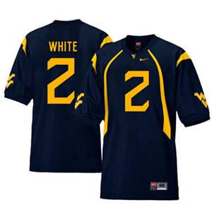 West Virginia Mountaineers 2 Ka'Raun White Navy College Football Jersey