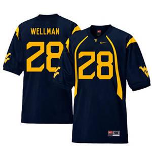 West Virginia Mountaineers 28 Elijah Wellman Navy College Football Jersey
