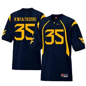 West Virginia Mountaineers 35 Nick Kwiatkoski Navy College Football Jersey