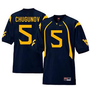 West Virginia Mountaineers 5 Chris Chugunov Navy College Football Jersey