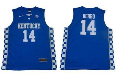 Wildcats #14 Tyler Herro Royal Blue Elite Stitched College Basketball Jersey