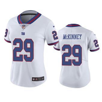 Women's 2020 Draft Giants #29 Xavier McKinney White Color Rush Limited Jersey