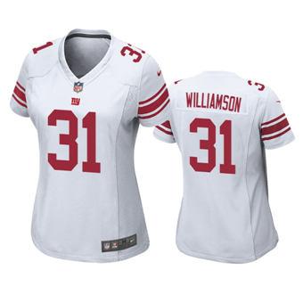 Women's 2020 Draft Giants #31 Chris Williamson White Football Game Jersey